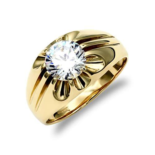 Jewelco Europa hombres Oro Amarillo 9k solitario anillo
