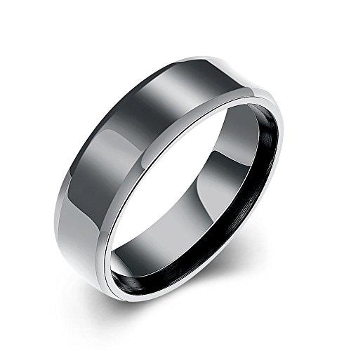 iLove EU - Anello in acciaio inox lucido, da uomo e Acciaio inossidabile, 54 (17.2), cod. ANM020170398