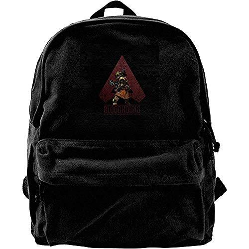 Unisex Canvas Shoulder Bag,Apex Legends Bloodhound Tracker Tecnológico Mochilas De Poliéster para Adolescentes Camping Escolar 30cm(W) x40cm(H)
