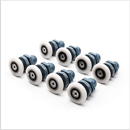 8pcs / Lot Lagers Roller, ABS Plastic Katrol Runner Wiel Douchecabine Glazen Schuifdeur Rollers Naar De Douche (Size : Diameter 25mm)