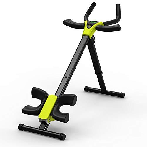 QQYYY Heimtrainer klappbar Rückentrainer, Bauchtrainer, Profi AB Trainer, Fitnessgerät mit LCD-Display, verstellbar einem Einfach und platzsparend zu verstauen,Schwarz