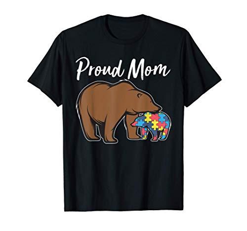 Bear Autism Puzzle Awareness | Proud Mom Gifts Tee T-Shirt