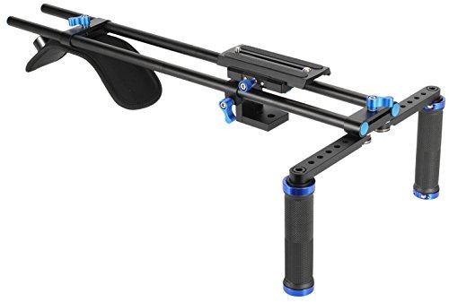 MARSRE Pro DSLR Shoulder Rig Film Making System Camera Shoulder Mount with Camera/Camcorder Mount Slider for for All DSLR Video Cameras and DV Camcorders