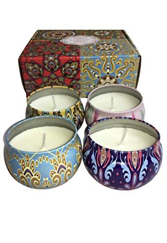 kelaisi scented so wax candles 4 set