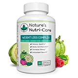 Nature's Nutri-Care Weight Loss Complex - Garcinia Cambogia and Raspberry Ketone and Green Coffee Bean - 60 Capsules - Appetite Suppressant and Metabolism Booster Weight Loss Supplement, 60