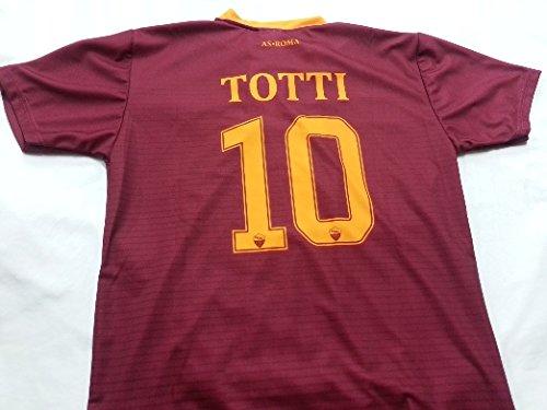 MAGLIA TOTTI ROMA REPLICA UFFICIALE 2015-16 ADULTO UOMO XL L M S , HOME FRANCESCO CAPITANO PUPONE 10 (S)