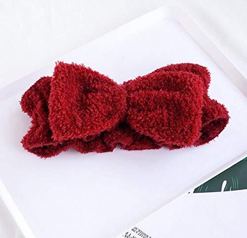 LINGZIA Bande de Cheveux de Visage pour Les Femmes, Douche de Bain Spa Rose Accessoires de Maquillage Lavage de Bandeau cosmétique, 8, Rouge