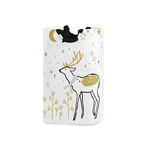 VORMOR Wäschesack Weihnachts-Adventskalender Nette entzückende Tiere Großer Faltbarer Wäschekorb,zusammenklappbarer Wäschekorb,zusammenklappbarer Waschvorratsbehälter