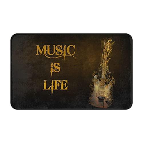 Nongmei Alfombras de baño,alfombras de baño,Música Heavy Metal,la música es Vida,Alfombras Antideslizantes Alfombras de baño Extra Suaves