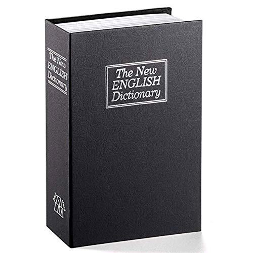 Morninganswer Caja de Cambio Creativa Libro de Diccionario Caja de Seguro Libro de simulación Creativo Europeo Caja de Seguridad Mini Tanque de Almacenamiento Negro Negro