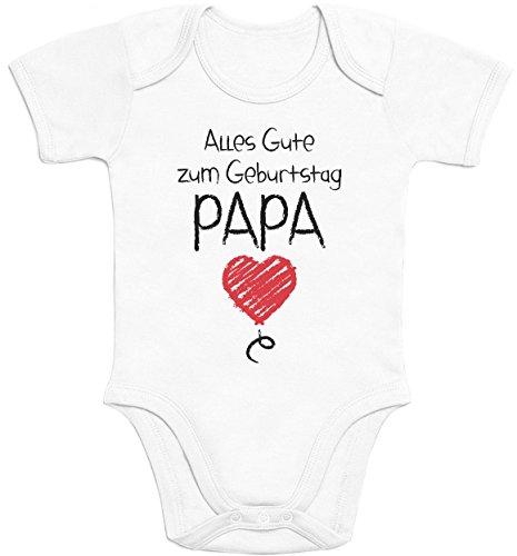 Shirtgeil Alles Gute Zum Geburtstag Papa - Vater Geschenk Baby Body Kurzarm-Body 0-3 Monate Weiß