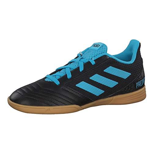 adidas Predator 19.4 In Sala J, Zapatillas de Fútbol Unisex niños, Multicolor (Core Black/Bright Cyan/Solar Yellow G25830), 28 EU