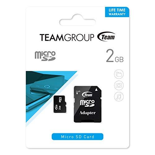 Team Group Micro SD 2 GB Scheda di Memoria con Adattatore SD 2 GB 80x