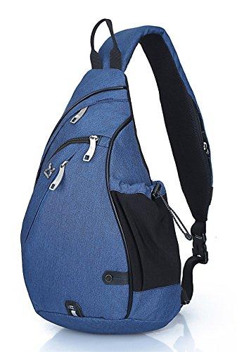 FreeMaster, zaino monospalla, ideale per escursioni, ciclismo, trekking, viaggi, scuola, Blau, Taglia unica