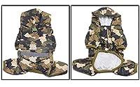 ペット猫犬レインコートフード付き反射子犬小型犬レインコート犬用防水ジャケット柔らかい通気性メッシュ犬の服-Camouflage_M