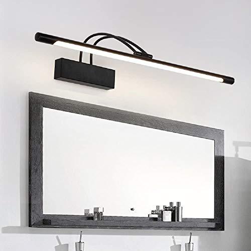 8W 41 cm 180 °ajustable LED Lámpara de Pared para Baño Espejo Negro Aplique Luz Lámpara Luz a LED Aplique Espejo Muebles Baño 4000K Luz Natural
