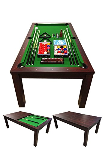 Simba Srl Tavolo Biliardo - Carambola - Snooker 7FT 188 x 96 cm Modello Green Star Full Optional con Copertura Inclusa
