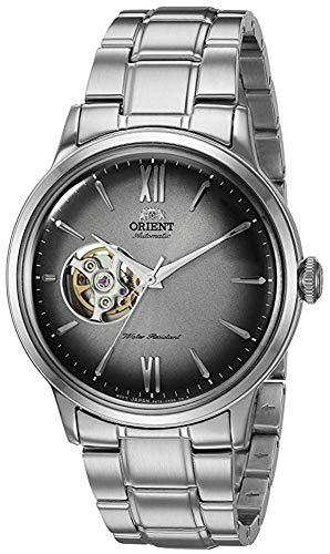 Orient RA-AG0029N10A Helios - Reloj automático para hombre, diseño de esqueleto de corazón abierto, esfera gris