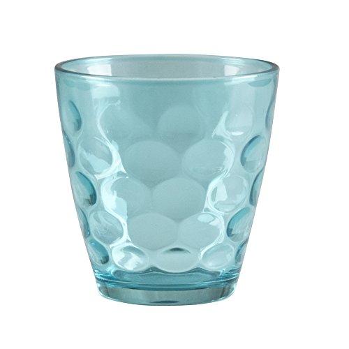 BEPER Juego de Vasos 24 cl, Tortora/Verde Agua, 10x17x24 cm, 6 Unidade