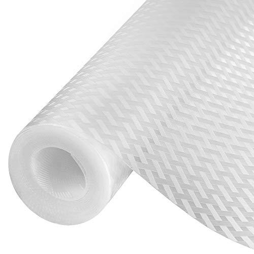 amorus Schubladenmatte, 3 PCS DIY waschbare wasserdichte Antirutschmatte, Antimehltau Antibakterielle Schubladeneinlage für Kühlschrank und Schublade (600cm)