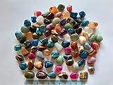 Edelsteine Halbedelsteine 90 Stück im Stoffsack für Edelsteinspiel, Kalaha 1A Premiumqualität! Trommelsteine optimal für Kinder und Jugendliche, zur Schatzsuche und Dekoration,für das Edelsteinspiel