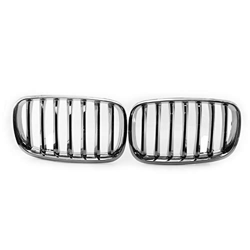 GoolRC 2 Rejillas de capó Delantero de Repuesto para BMW E70 X5 08-13 51137157687/8 (Estilo 1)