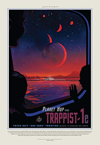 Visions Of the Future NASA - Planet TRAPPIST-1e Universe Earth Poster 60x91.5cm