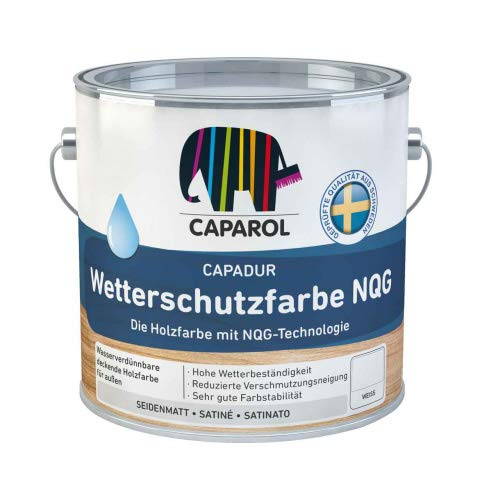 Caparol Capadur Wetterschutzfarbe NQG Größe 2,5 LTR, Farbe weiß