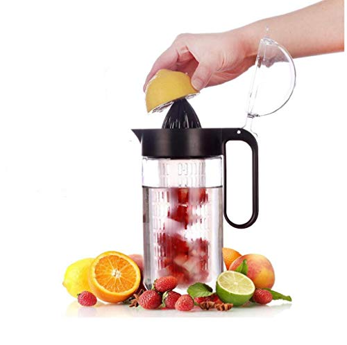 Balchy Glass Fruit Infusion Pitcher - Good Beverage Pitcher for Homemade Juice (Black)