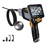 AsperX Industrial Endoscope, Cámara Inspección de 8MM 1080P HD Boroscopio Mano Cámara Dual, 6 Luces LED, Cable de 16.4 Pies, IP67 Impermeable, Tarjeta 32 GB