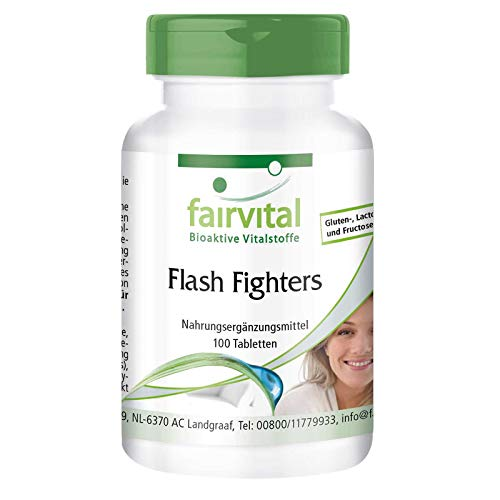 Flash Fighters - VEGAN - 100 Tabletten - mit Isoflavonen, Dong Quai, Mönchspfeffer u.v.m.