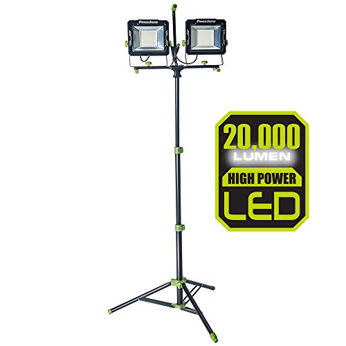 POWERSMITH 20,000 Lumen Dual-Head Telescopic Work Light