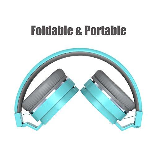 On Ear Headphones, Marvotek Stereo Headphones for Girls Wired Headphones with Mic Foldable Headphones Lightweight Headphones for Kids Photo #5