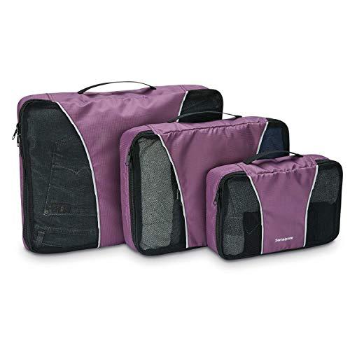 Samsonite Unisex-Erwachsene 3 Piece Packing Cube Set Reisetasche, Tote, violett, Einheitsgröße