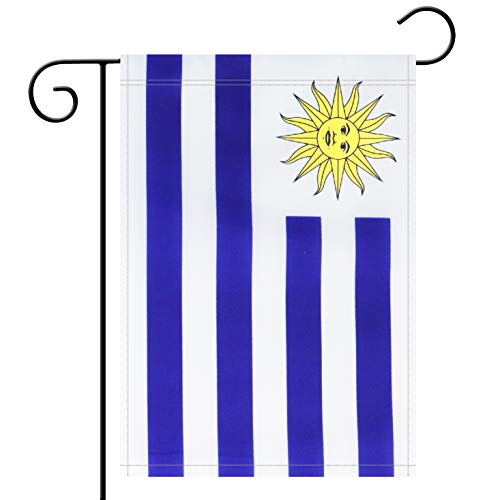 Garden Flag Uruguay Uruguayan Garden Flag,Garden Decoration Flag,Indoor and Outdoor Flags,Celebration Parade Flags,Anniversary Celebration, National Day,Double-Sided.