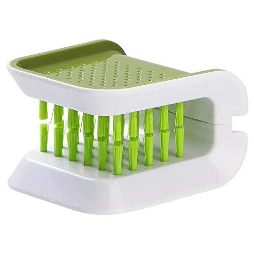 Cepillo de limpieza de cocina en forma de U multifuncional cuchillo tenedor utensilios de cocina convenientes herramientas de limpieza accesorios de cocina (2 piezas)