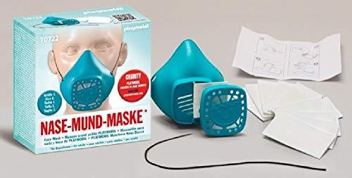 Playmobil 70722 - Mscara reutilizable para nariz y boca (tamao grande), color turquesa