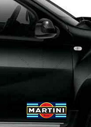 Sticker-Designs 15cm! Klebe-Folie Wetterfest Made-IN-Germany kompatibel für: Martini Logo Racing Gold Streifen B28 UV&Waschanlagenfest Auto-Aufkleber Profi-Qualität