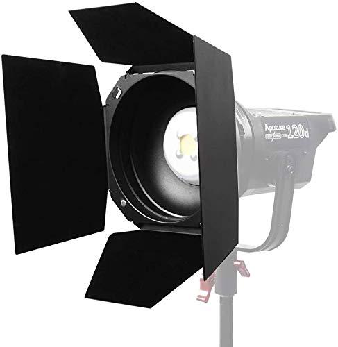 Aputure Barndoor, standardmäßiger Bowens Mount Barndoor für Aputure LS COB 120T/120D/120D II/300D LED-Videoleuchte + Oneshot-Reinigungstuch