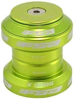 FSA Orbit MX 1-1/8Inches Threadless MTB Road Headset with Top Cap, Green, XTE1507