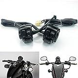 Carenatura moto For Har-ley Dyna Softail Sportster 883 1200 V-ROD 1996-2012 de la motocicleta 1' 25m interruptor de control de manillar con arnés de cableado Partes del cuerpo moto
