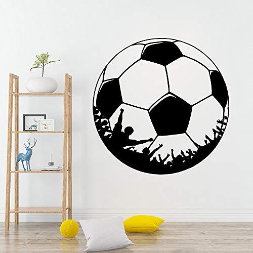 Pegatina de pared de fútbol de dibujos animados decoración del hogar decoración de habitación de guardería accesorios de decoración murales pegatinas de pared A2 43x43cm