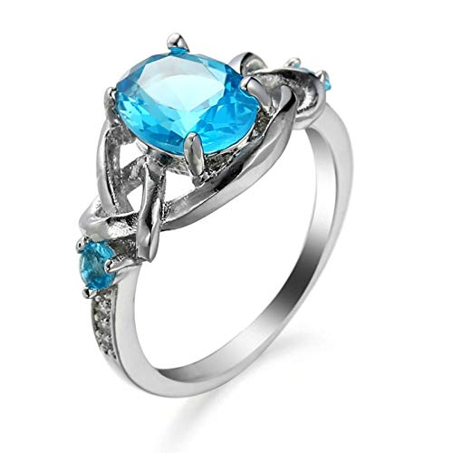 Malinmay Gift for Couples, Stainless Steel Simple Zircon Ring for Wedding Engagement Gifts Silver N 1/2