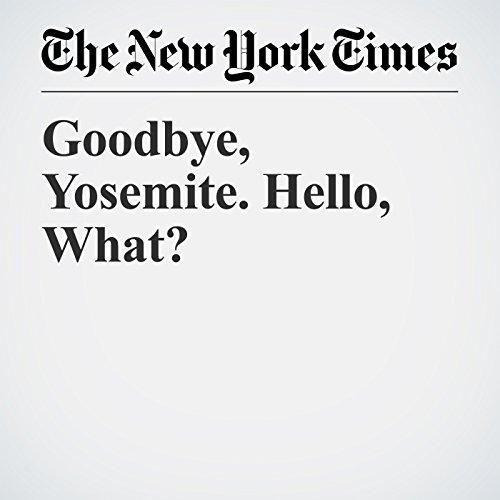 Goodbye, Yosemite. Hello, What? copertina