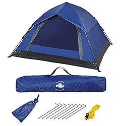Lumaland Outdoor leichtes Pop Up Wurfzelt 3 Personen Zelt Camping Festival 210 x 190 x 110 cm in Orange
