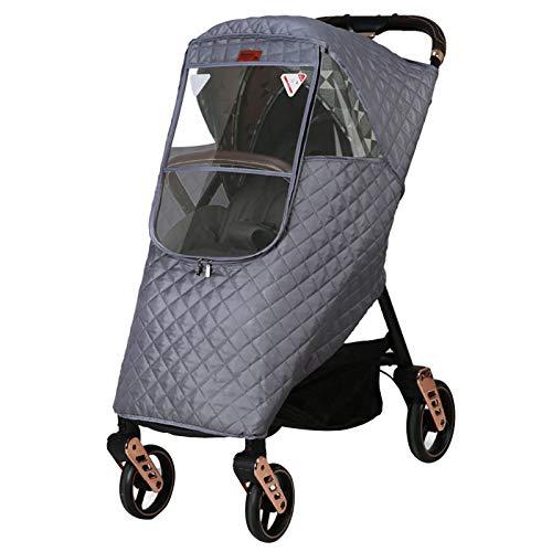 Regenschutz für Kinderwagen/buggy,Universal Sportwagen Regenschutz mit großem Sichtfenster & Reissverschluss gegen Regen & Wind,gute Luftzirkulation,Schadstofffrei (grau)