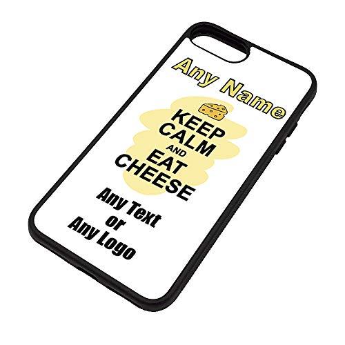 UNIGIFT Gepersonaliseerd geschenk - Houd kalm eten kaas iPhone Case (Voedselontwerp) elke naam bericht Unieke Apple TPU Cover - Carry Poster Party Dieet Snack Cake Chocolade Chips Fruit Cream Veg Pizza