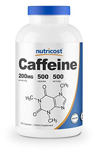 Nutricost Caffeine Pills, 200mg Per Serving (500 Caps)