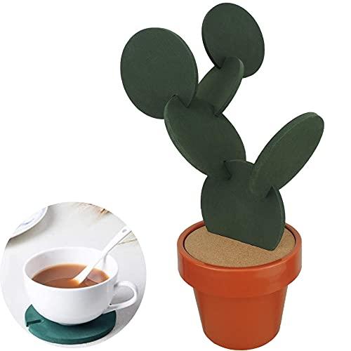 CCDSR - Posavasos de resina respetuosa con el medio ambiente, juego de posavasos de cristal, adecuado para el hogar, mesa, decoración de mesa alta, se puede montar y desmontar para uso por separado.