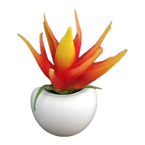 Cipliko Aimant De Réfrigérateur Bonsaï avec Fleurs Artificielles Et Plantes Succulentes, Bonsaïs Tableau Noir Magnétique Plantes en Pot Magnétiques pour La Décoration De La Maison